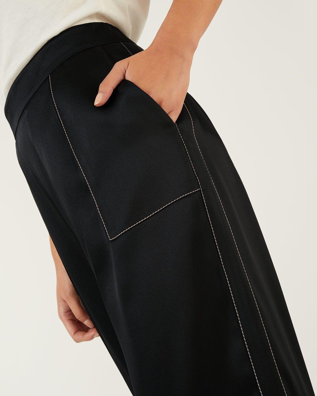 Stitch Detail Wide Leg Trouser