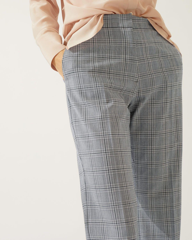 Mono Check Crop Trouser