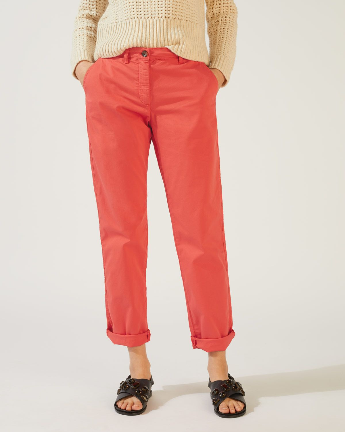 Slim Leg Cotton Chino Trouser
