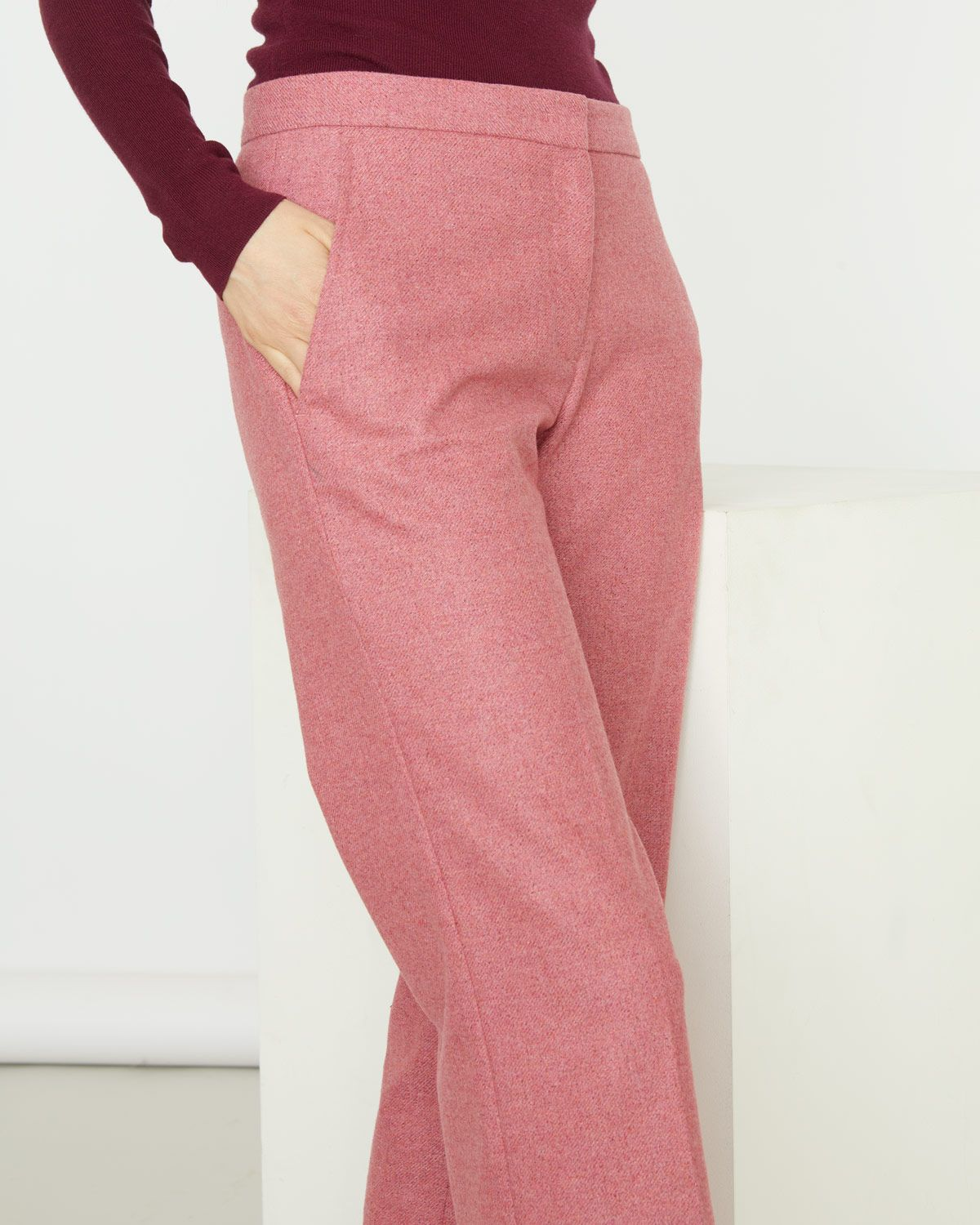 Flannel Straight Trouser