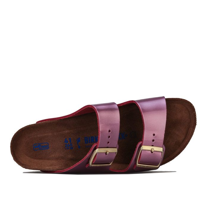 Women's Birkenstock Arizona Soft Footbed Sandals Narrow Width in Pink