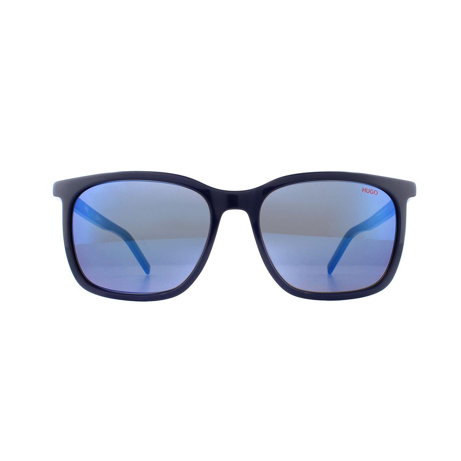 Hugo by Hugo Boss Sunglasses HG 1027/S PJP XT Blue Blue Sky Mirror