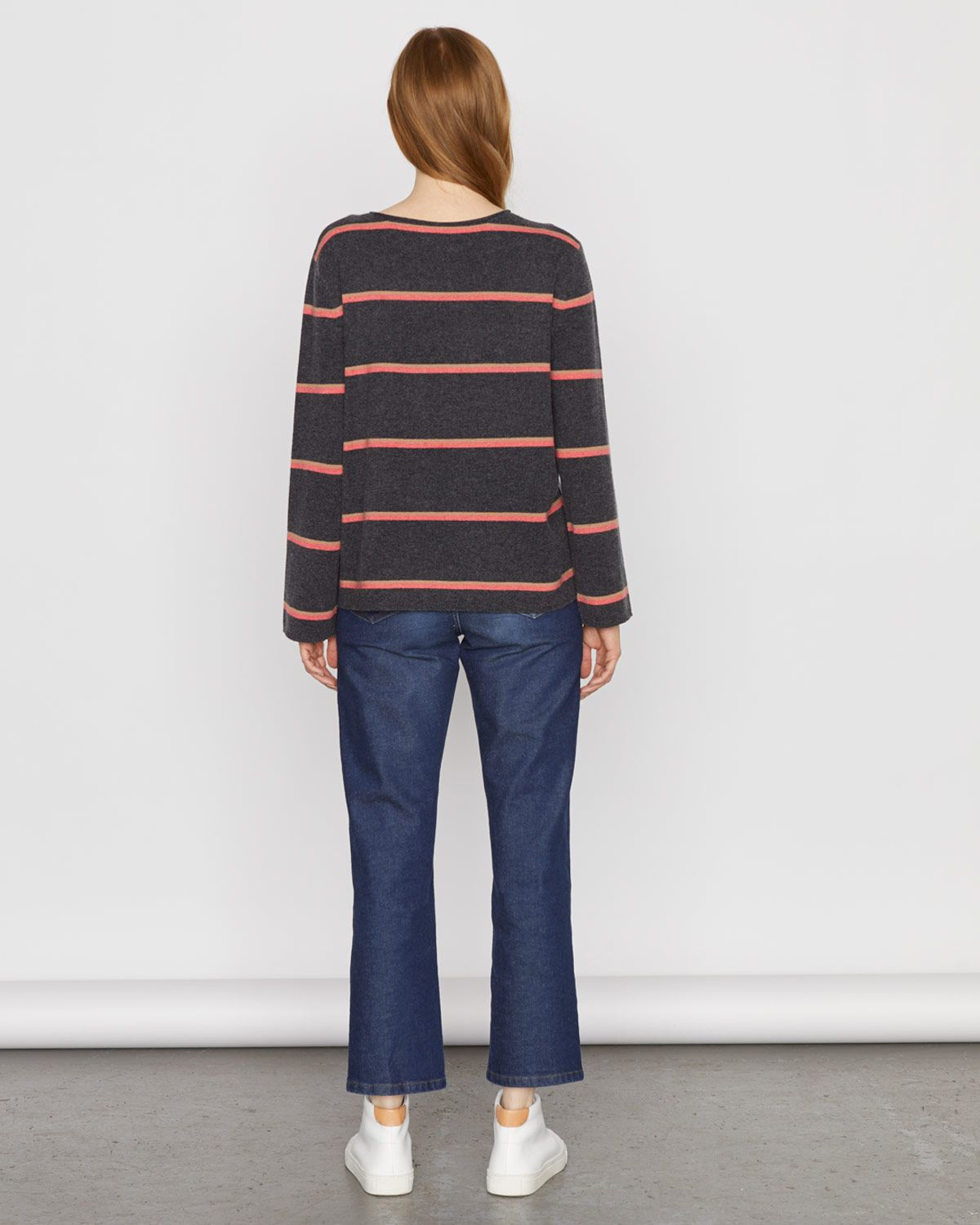 Cashmere Stripe Slouchy Jumper