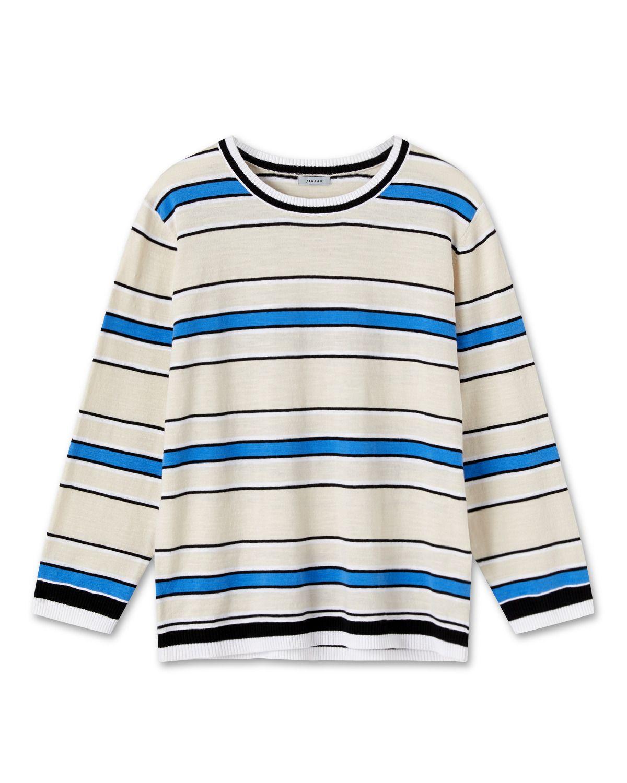 Striped Cotton Slub Jumper