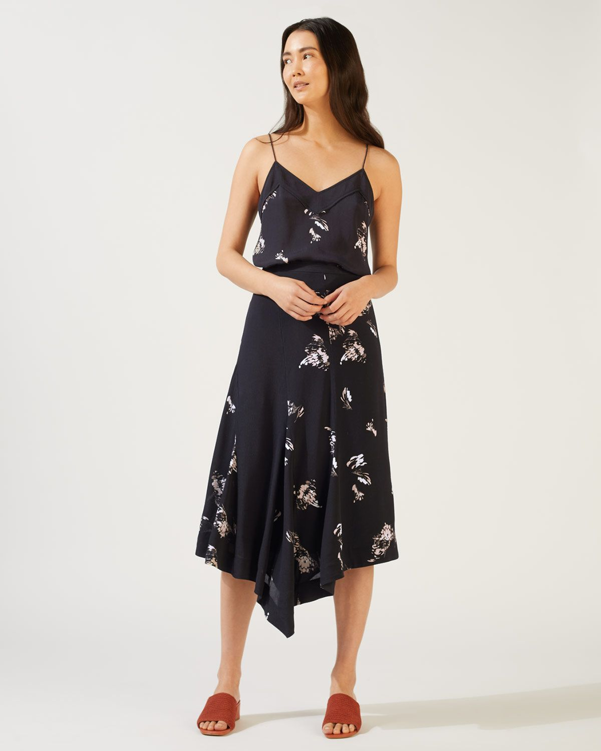 Petal Fragments Midi Skirt