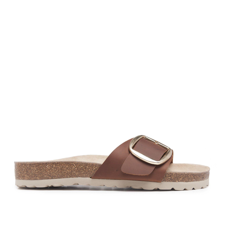 María Barceló Womens Bio Sandals in Brown