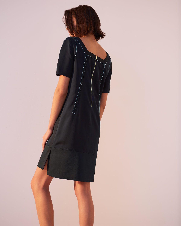 A- Leigh Stitch Detail Dress