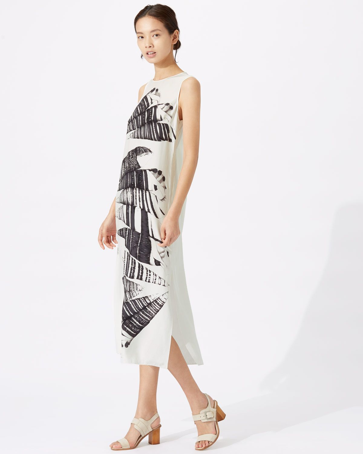 Cerith Stripe Silk Midi Dress