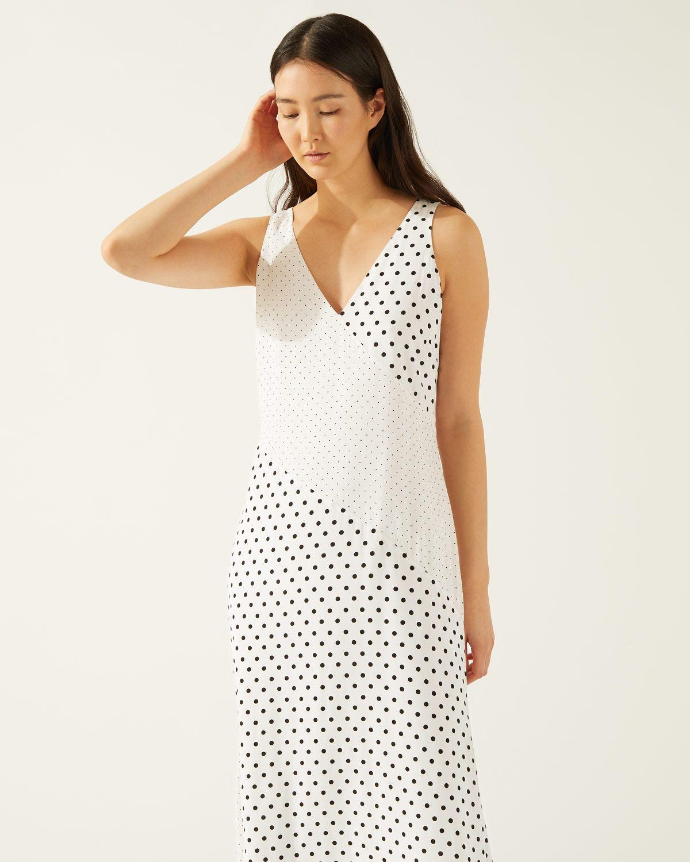 Mixed Spot Maxi Dress