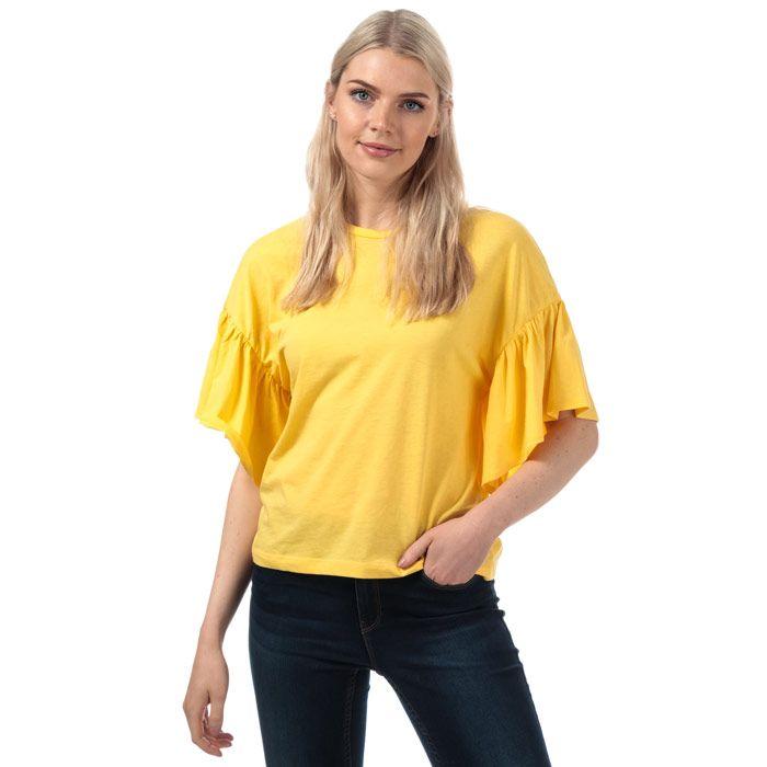 Women's Vero Moda Rebecca Jersey Top in Yellow