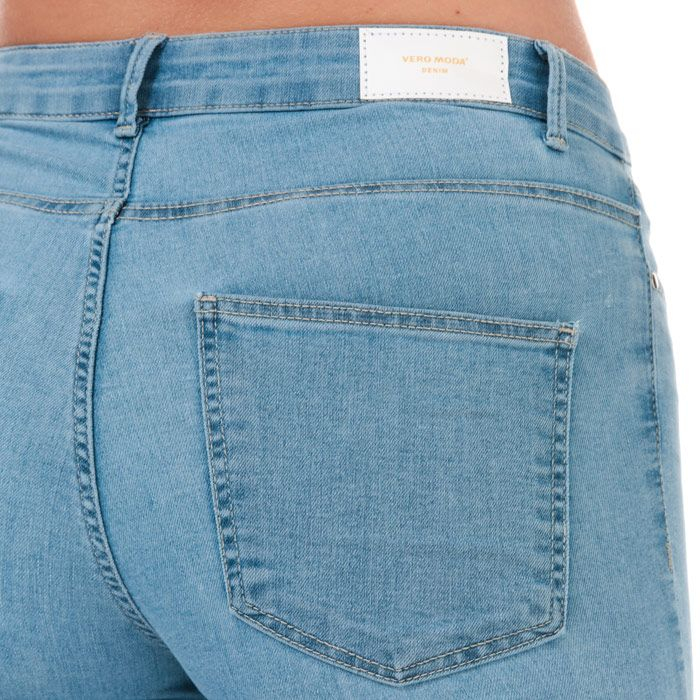 Women's Vero Moda Judy Mid Rise Slim Jeggings Light Blue 6Sin Light Blue
