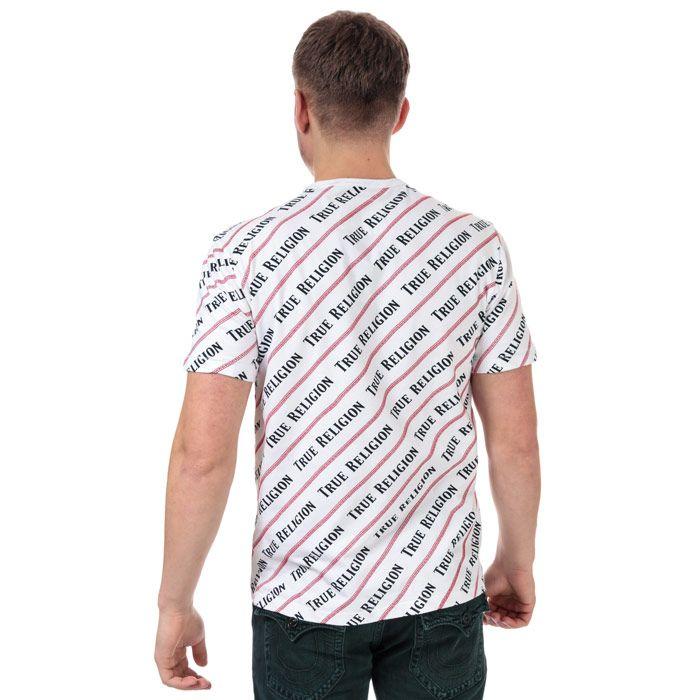 Men's True Religion Coverstitch All Over Print T-Shirt in White