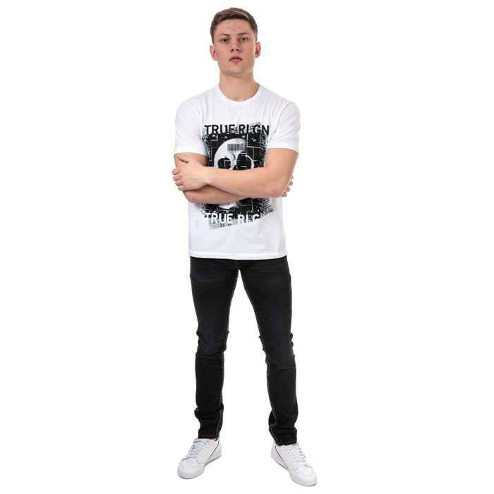 Men's True Religion Embellished Skull T-Shirt in White
