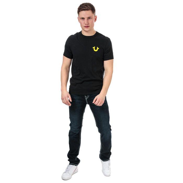 Men's True Religion Puff Logo T-Shirt in Black