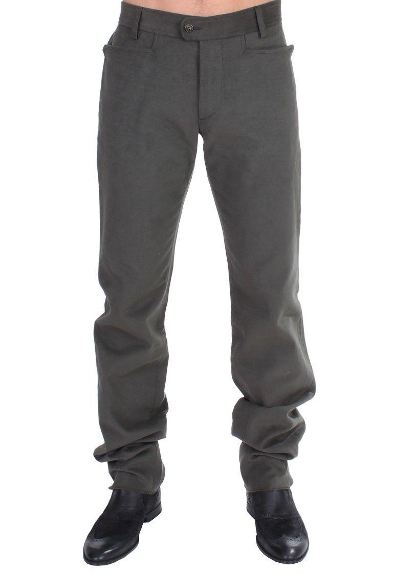 Cavalli Green straight fit pants