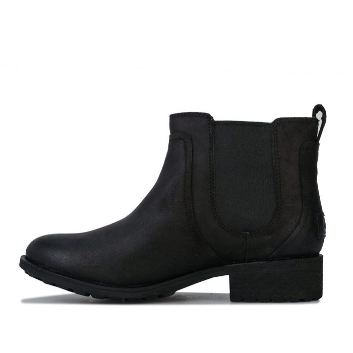 Women's Ugg Australia Bonham Leather Chelsea Boots in Black