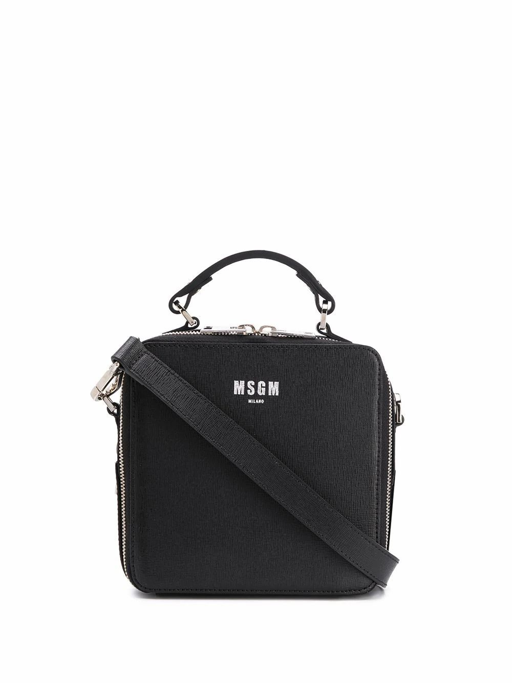 MSGM WOMEN'S 2841MDZ55044099 BLACK LEATHER HANDBAG