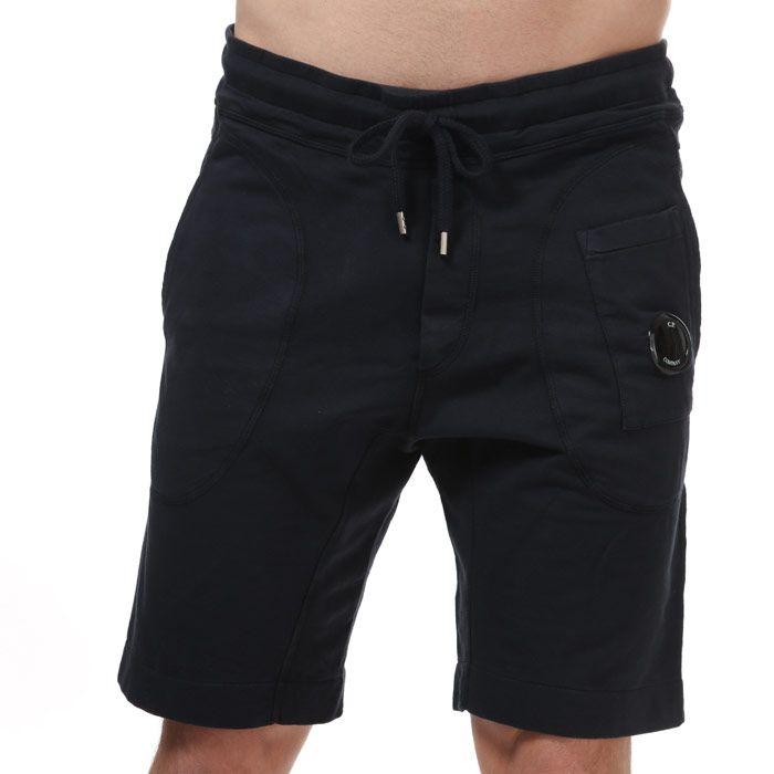 Men's C.P. Company Light Fleece Jog Shorts in Navy