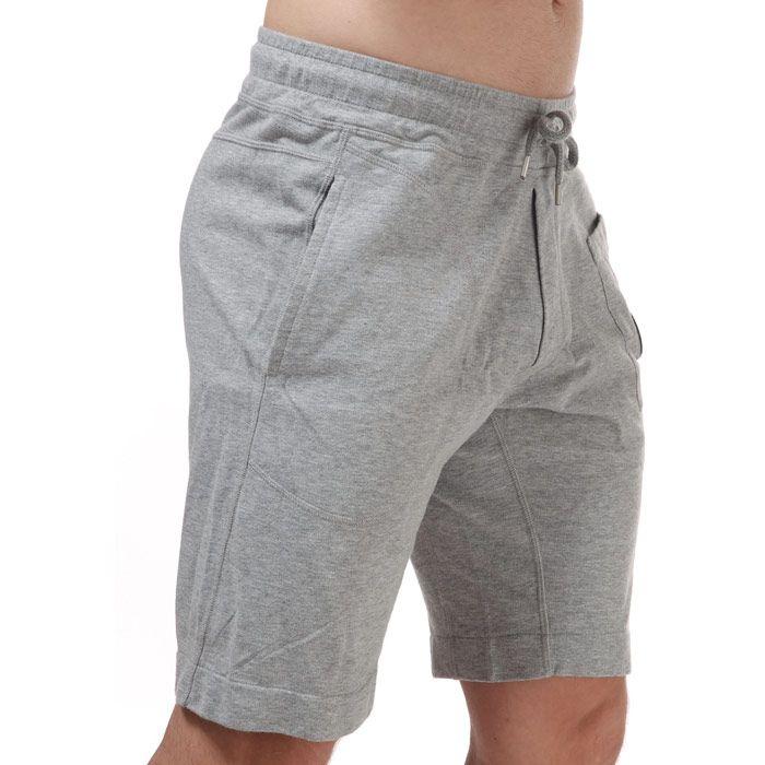 Men's C.P. Company Light Fleece Jog Shorts in Grey
