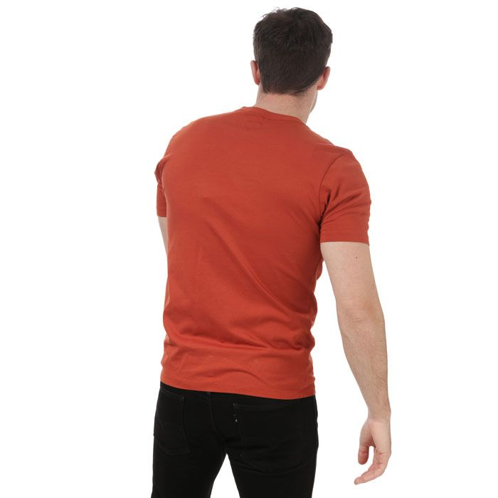 Men's C.P. Company Stitch Block Logo T-Shirt in Orange