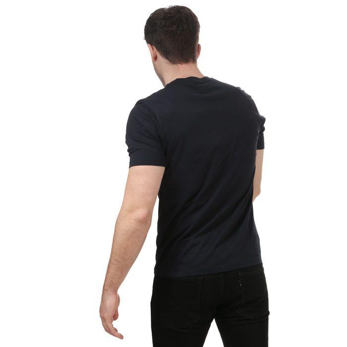 Men's C.P. Company Stitch Block Logo T-Shirt in Navy