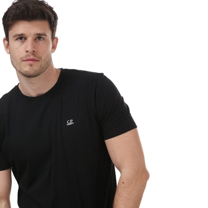Men's C.P. Company Chest Printed Small Logo T-Shirt in Black