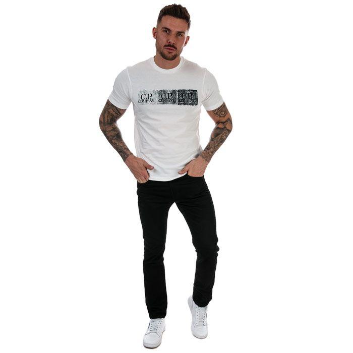 Men's C.P. Company Graphic Logo T-Shirt in White