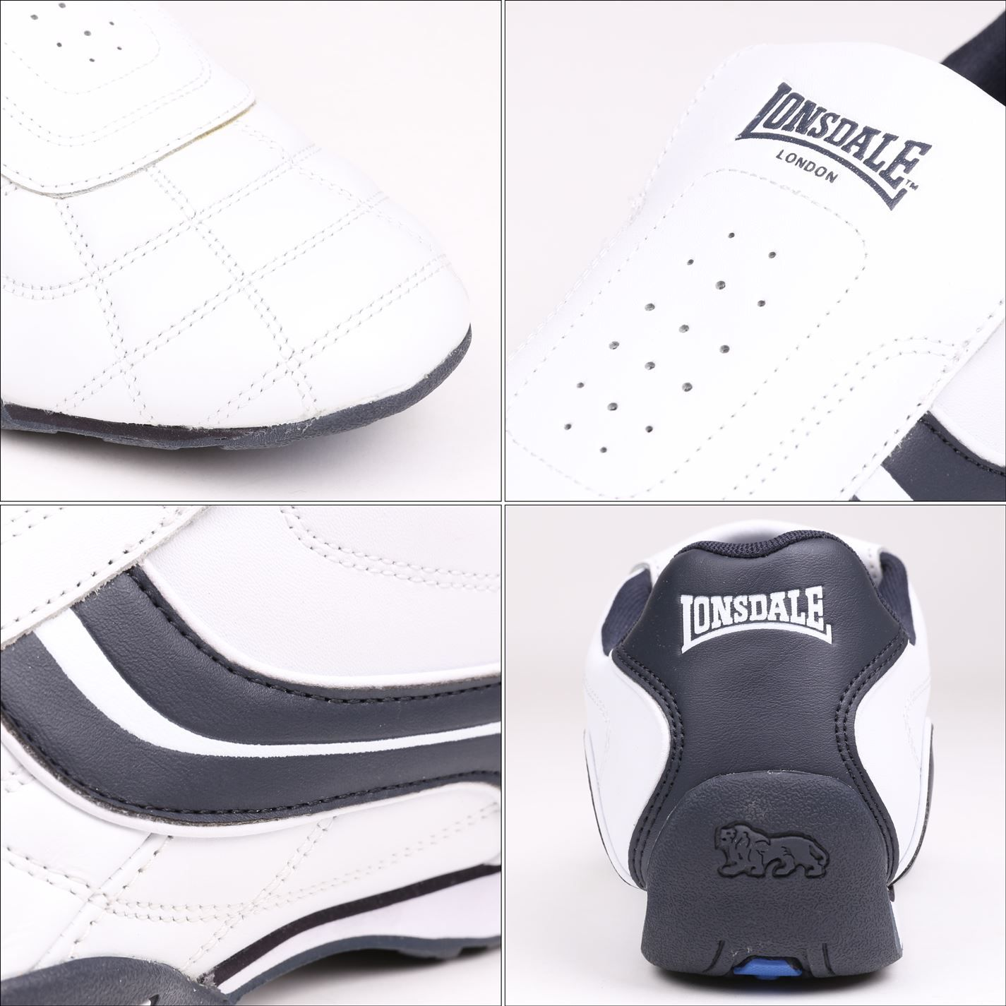 Lonsdale Mens Camden Slip On Trainers Low Top Sneakers Shoes Casual Footwear