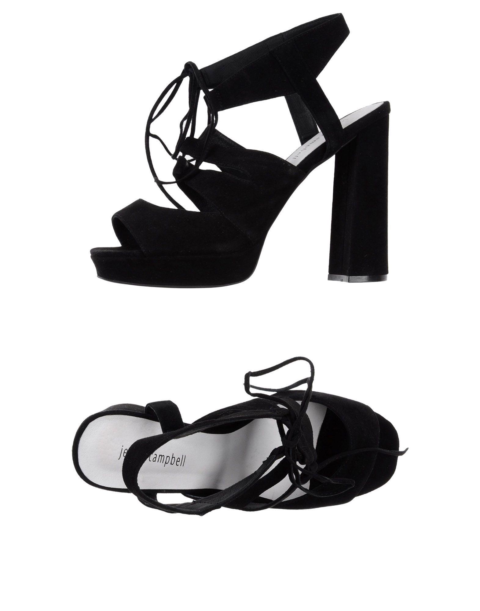 Jeffrey Campbell Black Leather Sandals