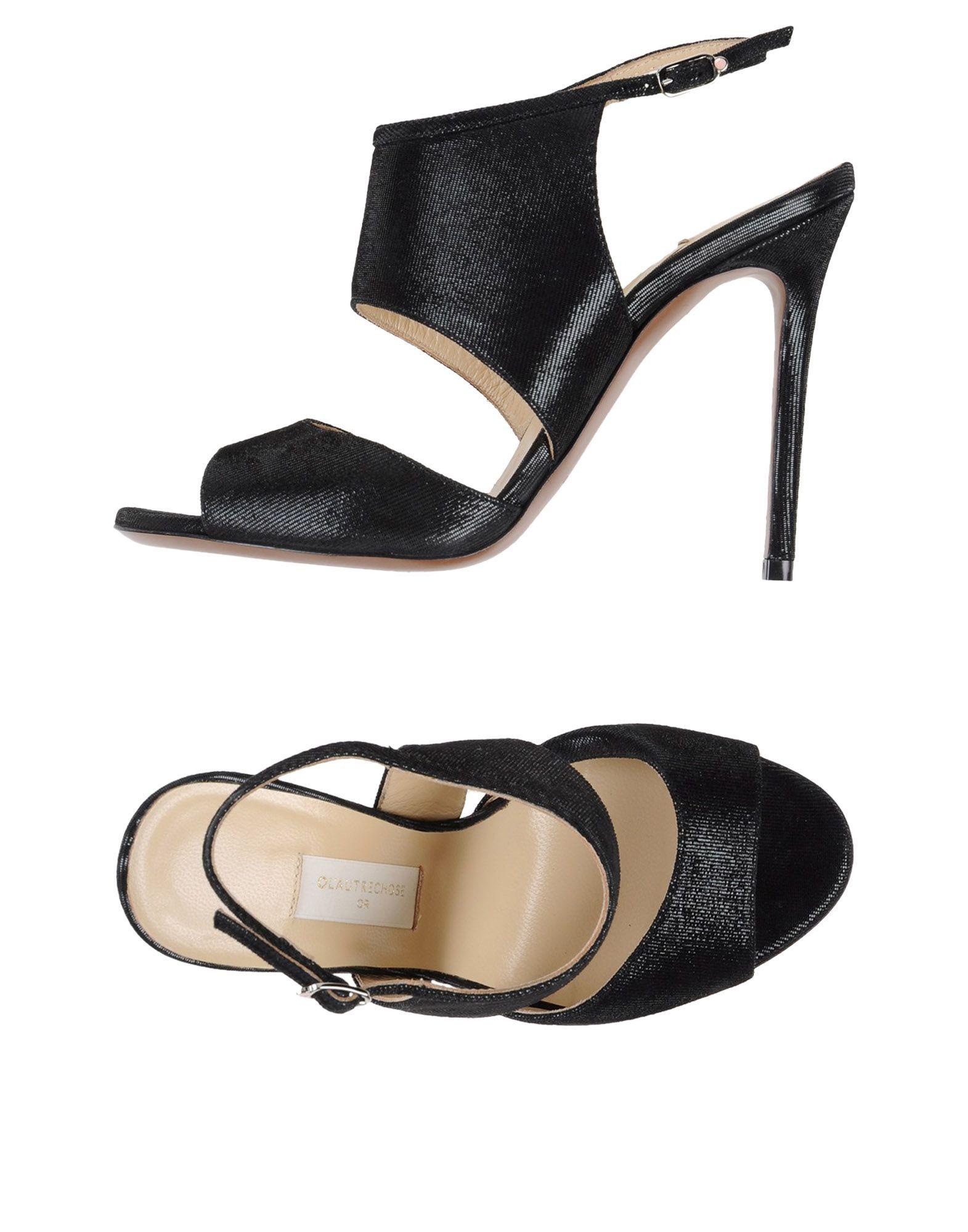 L' Autre Chose Black Leather Heels