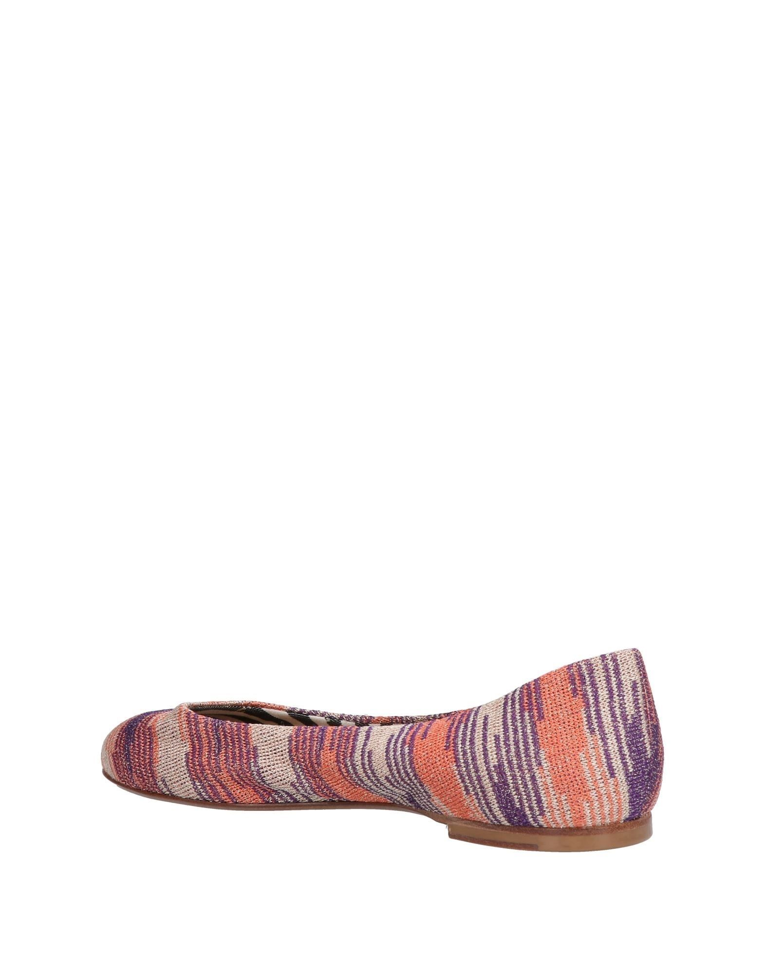 M Missoni Salmon Pink Print Ballet Pumps