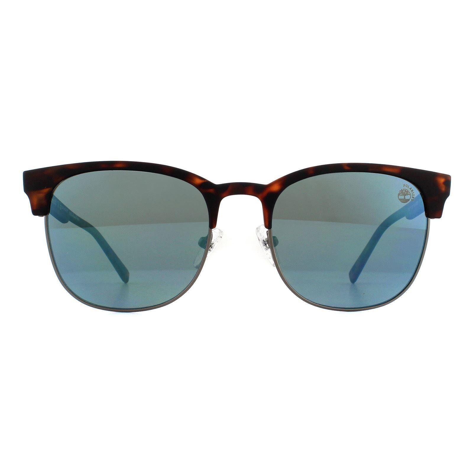 Timberland Sunglasses TB9177 52D Havana Blue Polarized