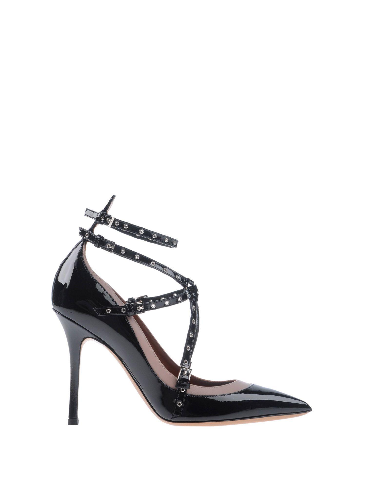 FOOTWEAR Valentino Garavani Black Woman Leather