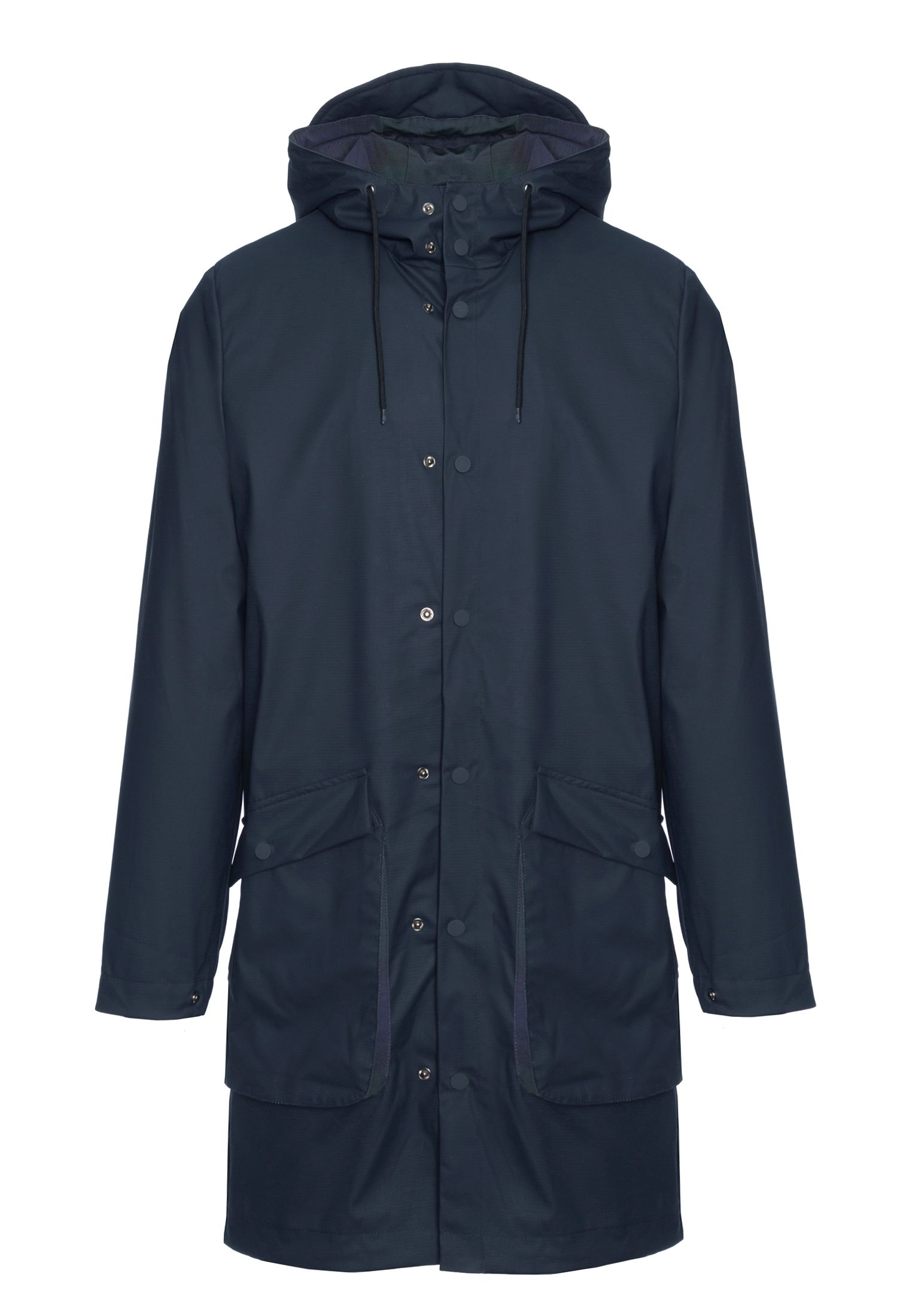 Fitzroy Men's Fishtail Raincoat parka in Dark Navy
