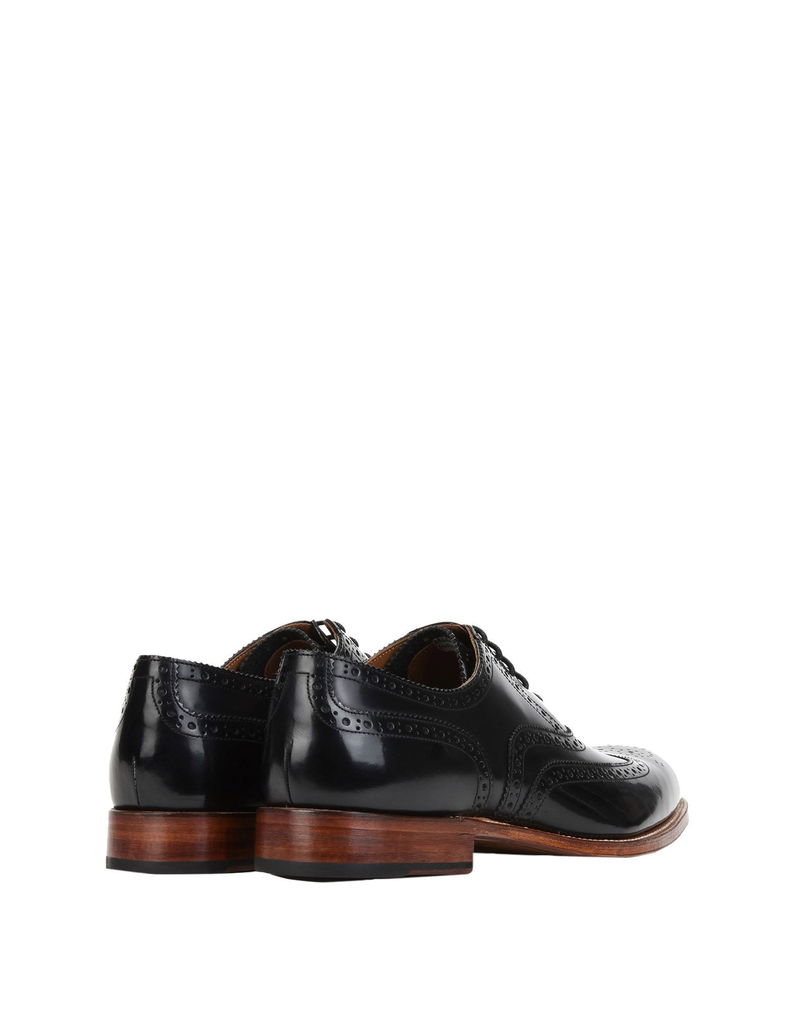 Grenson Black Leather Lace Up Shoes