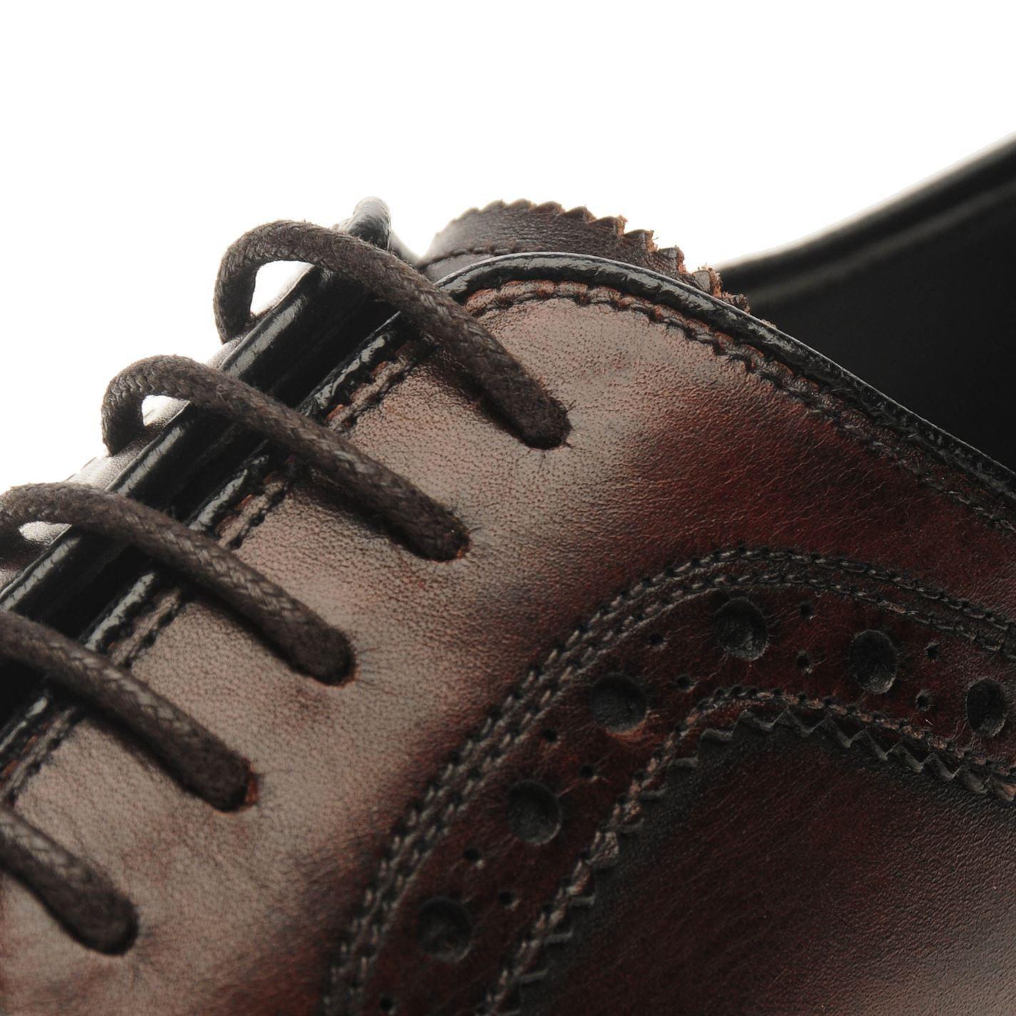 Firetrap Mens Blackseal Preston Shoes Brogues Lace Up Tonal Stitching Brogue