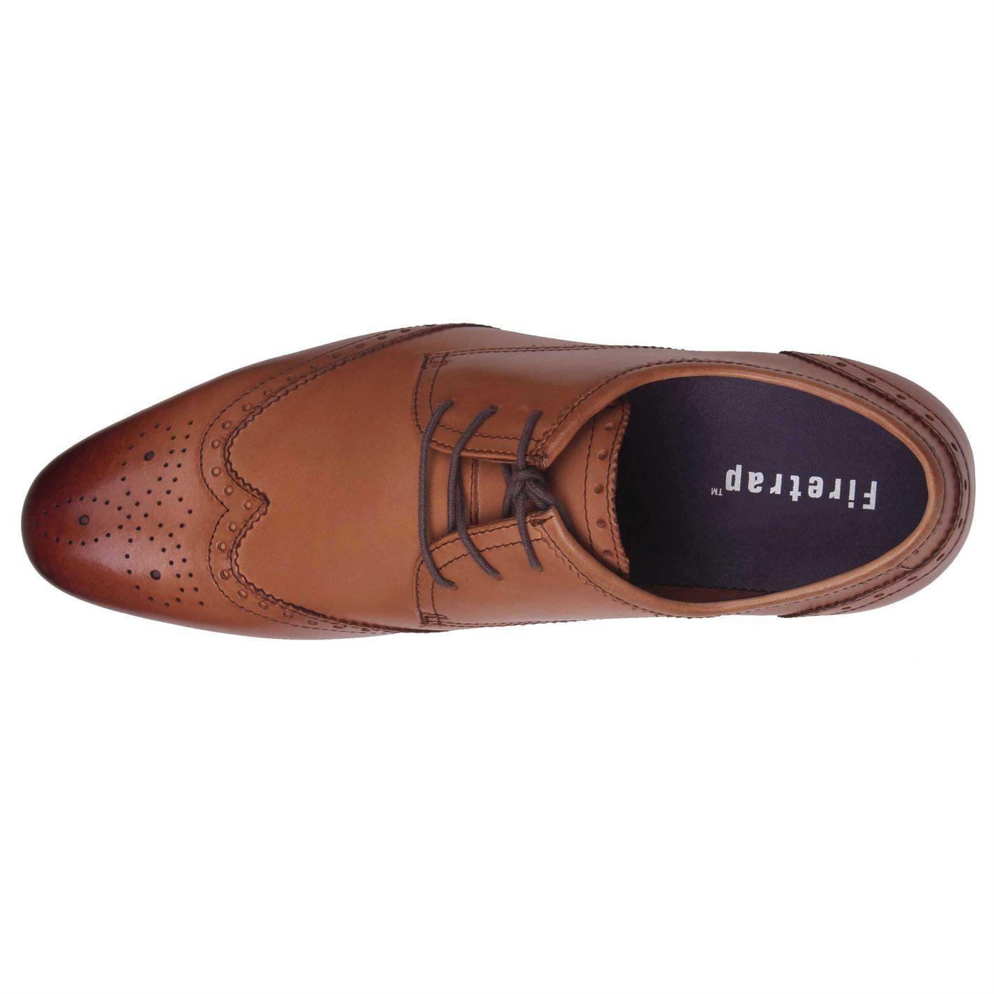 Firetrap Mens Beaufort Lace Up Brogue Style Slight Heel Smart Formal Shoes