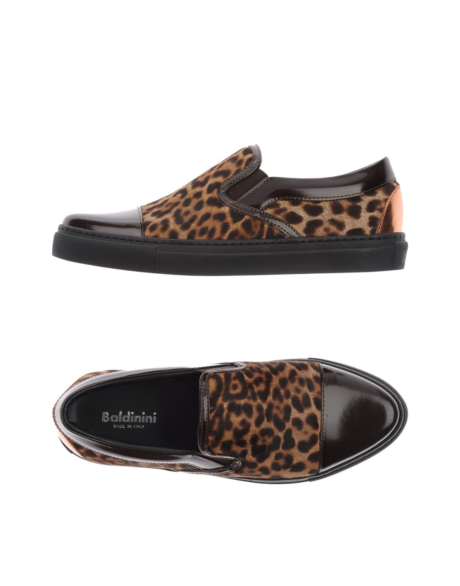 Baldinini Dark Brown Leopard Print Leather Loafers