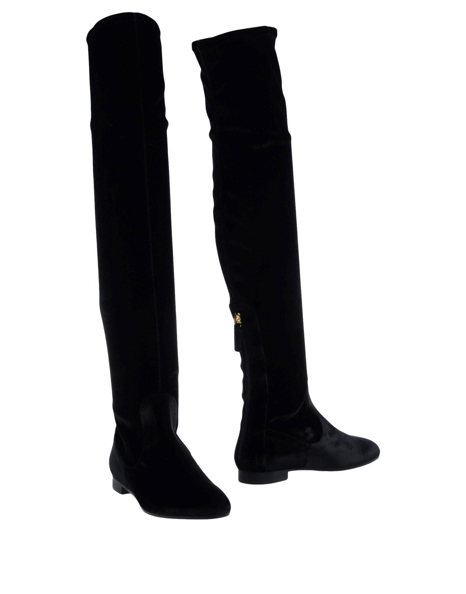 Aquazzura Women's Boots Black Textile Fibres