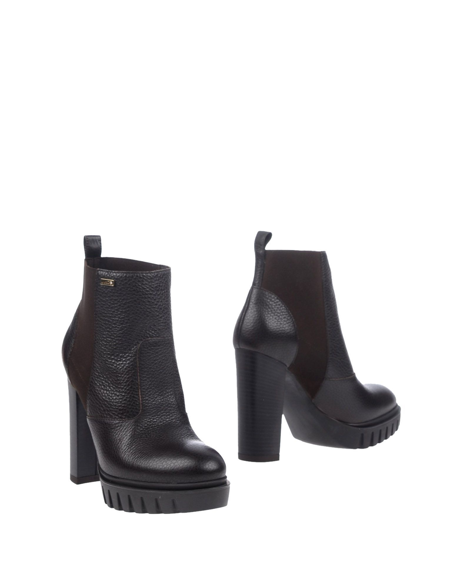 Liu Jo Dark Brown Leather Heeled Ankle Boots