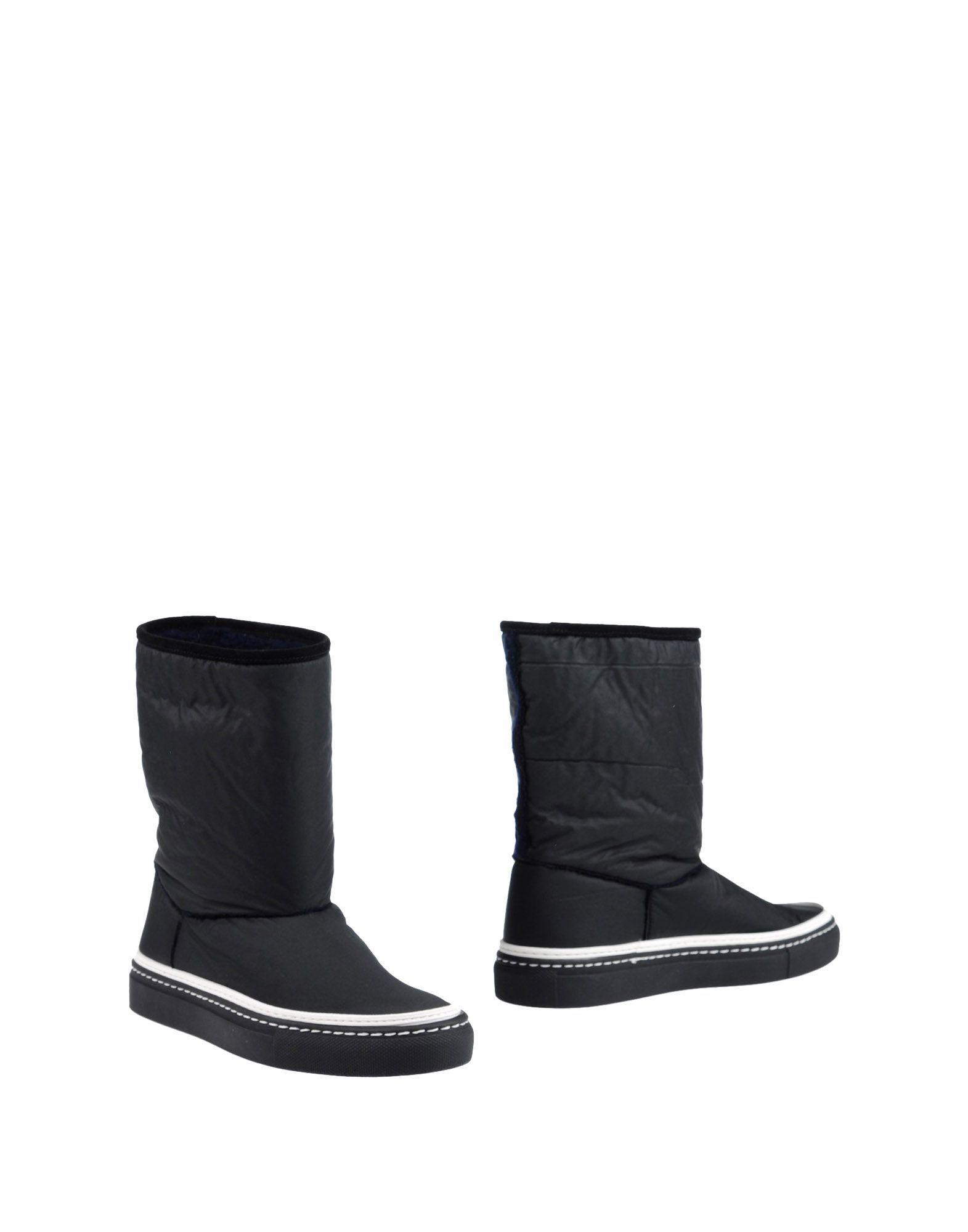 L' Autre Chose Black Techno Fabric Ankle Boots