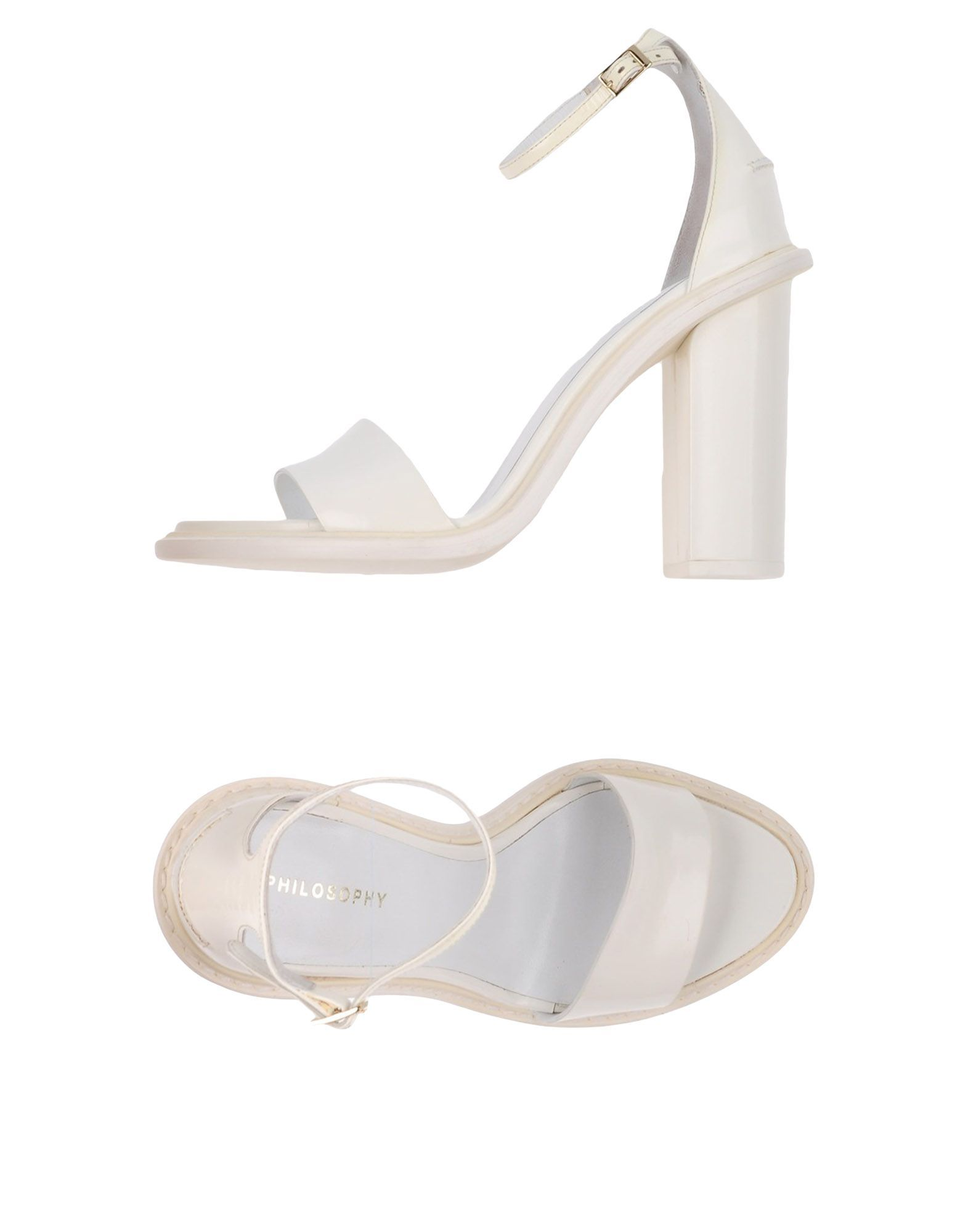 Philosophy Di Alberta Ferretti White Leather Heeled Sandals