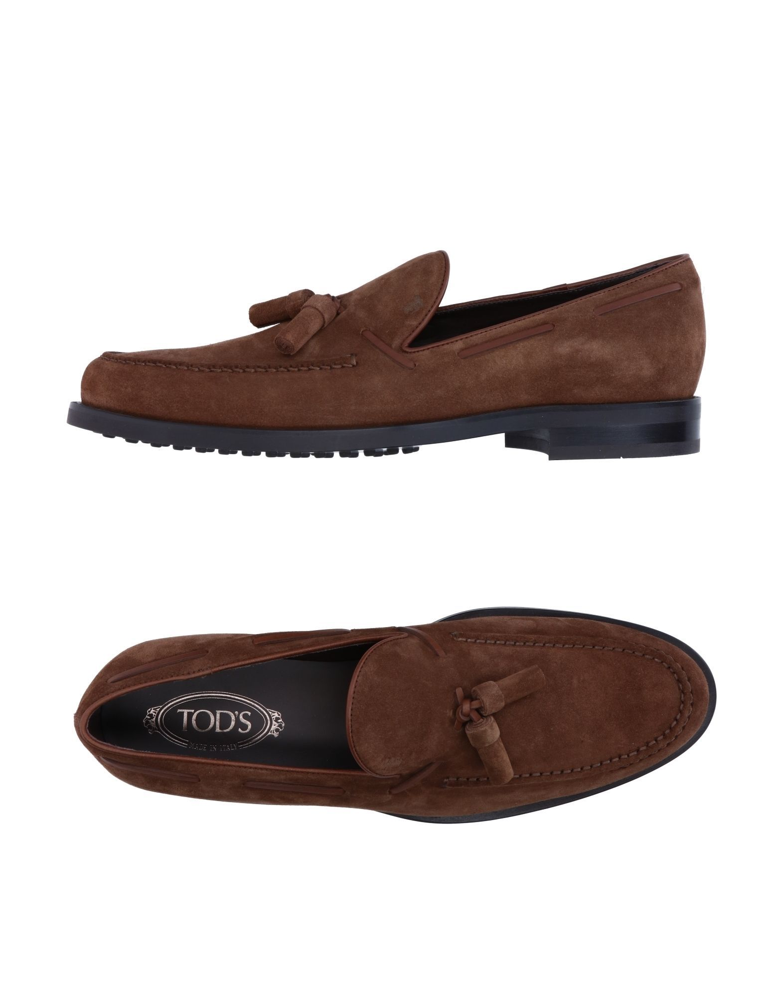 Tod's Brown Leather Loafers