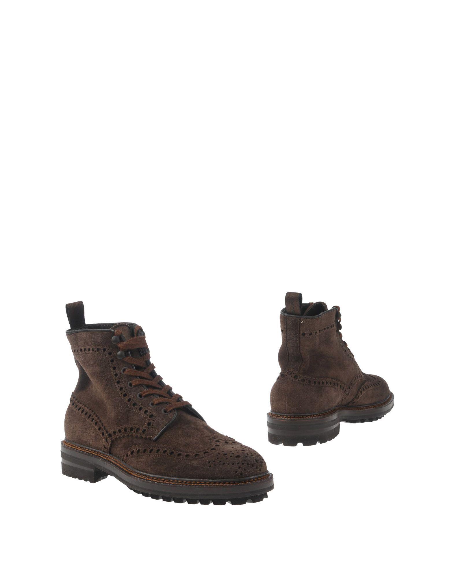 Santoni Dark Brown Leather Boots