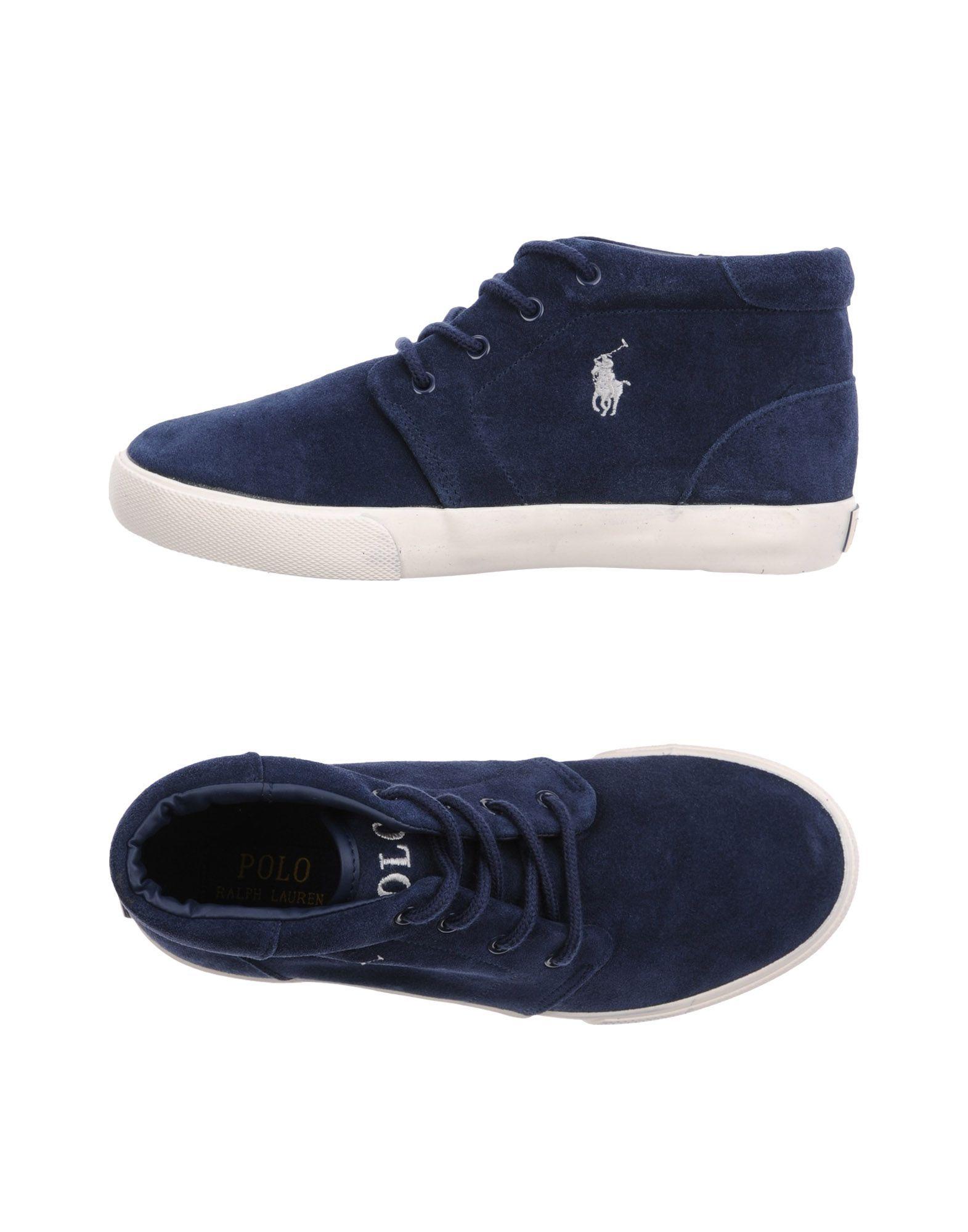 FOOTWEAR Ralph Lauren Dark blue Boy Leather