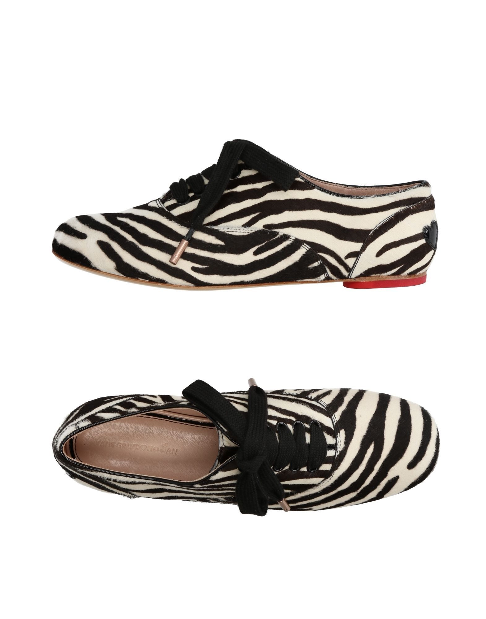 Katie Grand Loves Hogan White Calf Leather Lace Up Shoes