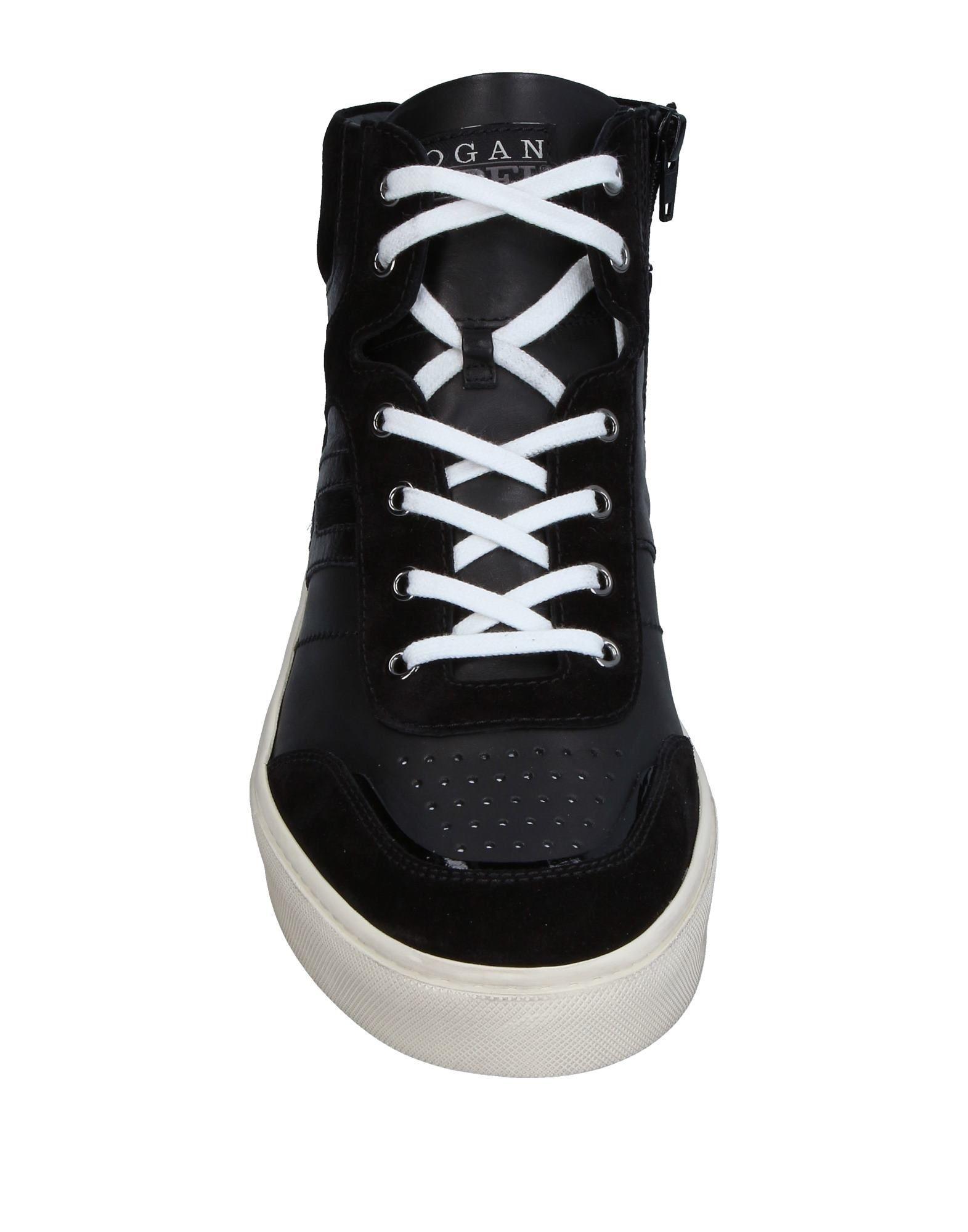 Hogan Rebel Black Leather Sneakers
