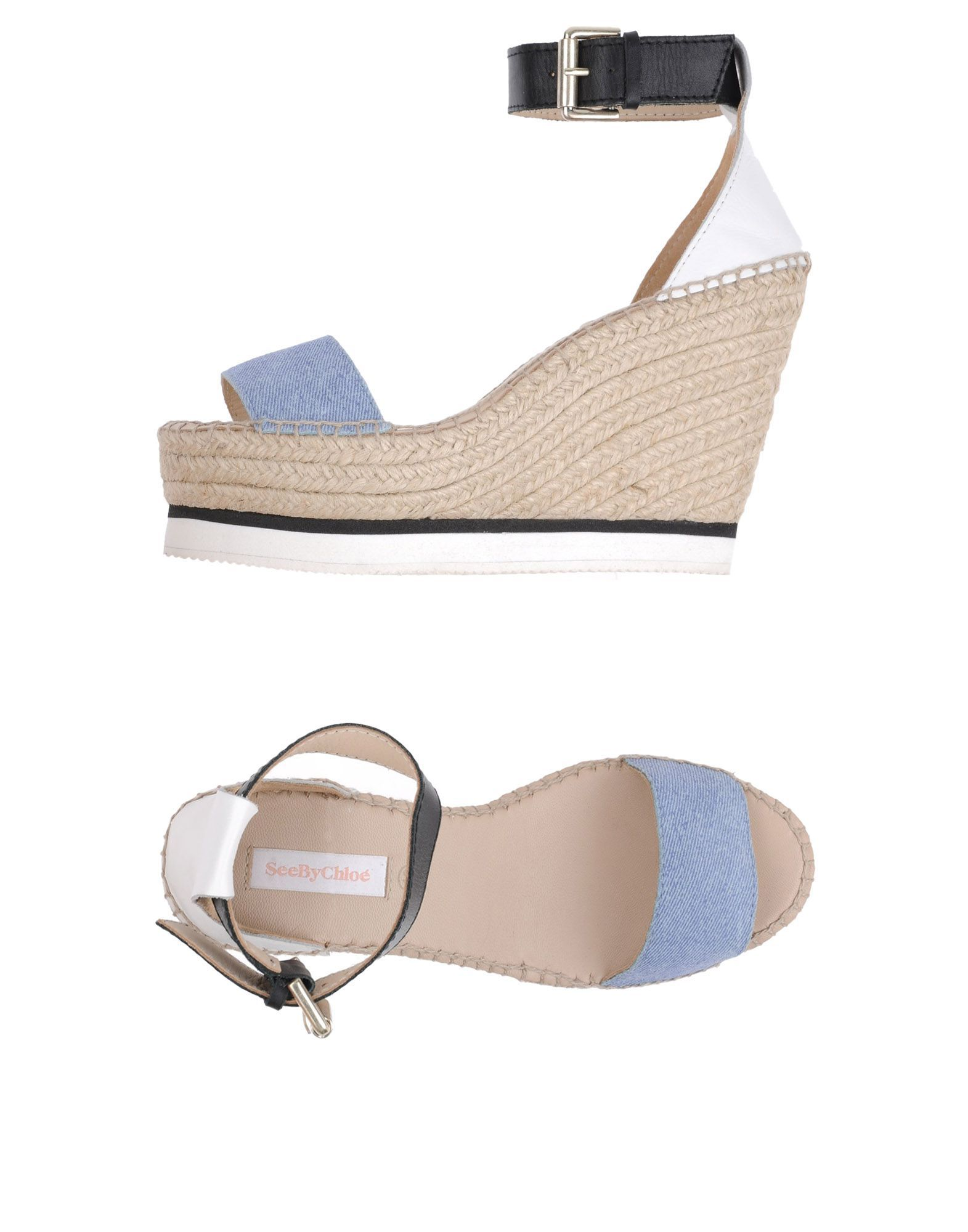See By Chloe Azure Leather Espadrilles