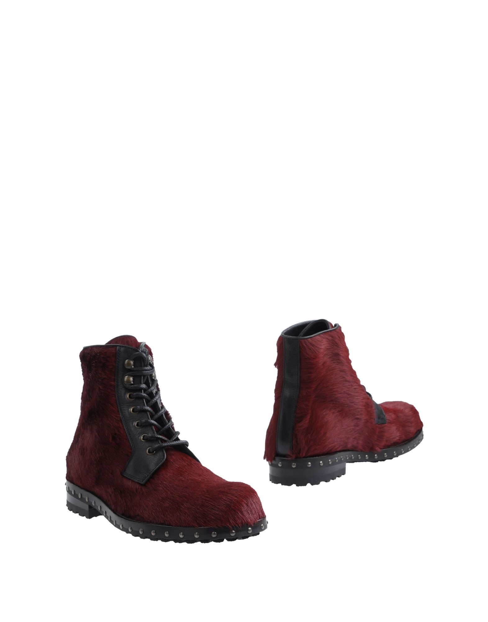Dolce & Gabbana Maroon Calf Ankle Boots