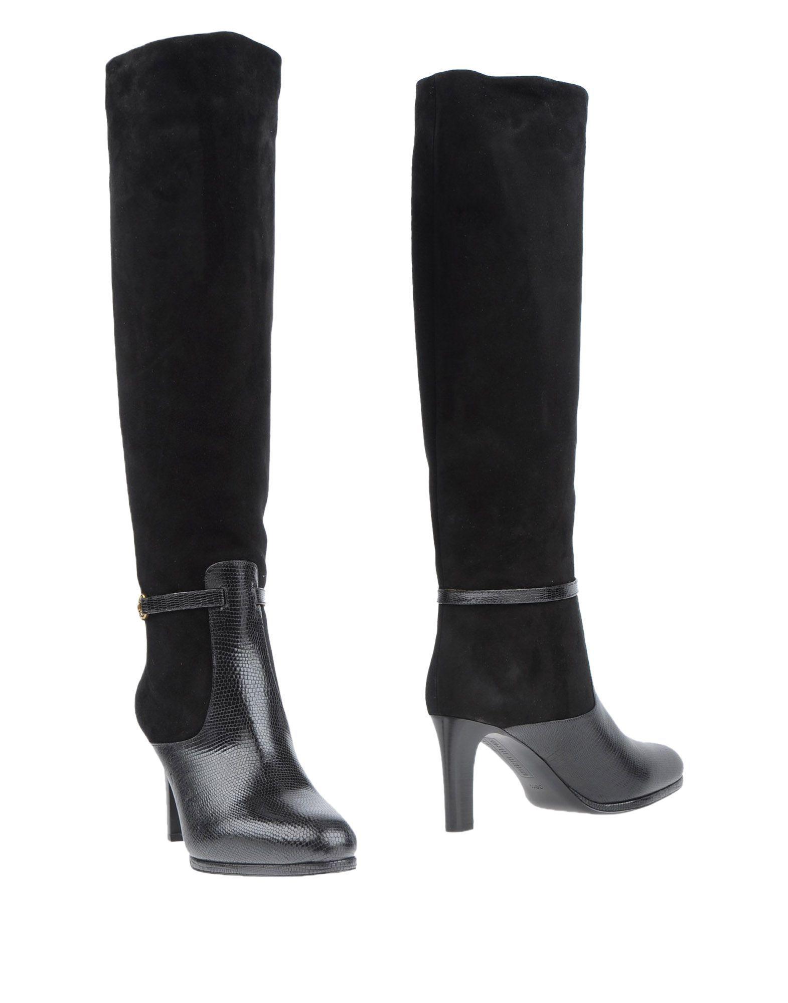 Veronique Branquinho Black Leather Knee High Boots
